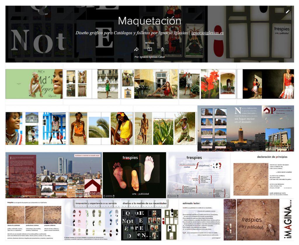 Portada de Álbum flickr Maquetación - portfolio