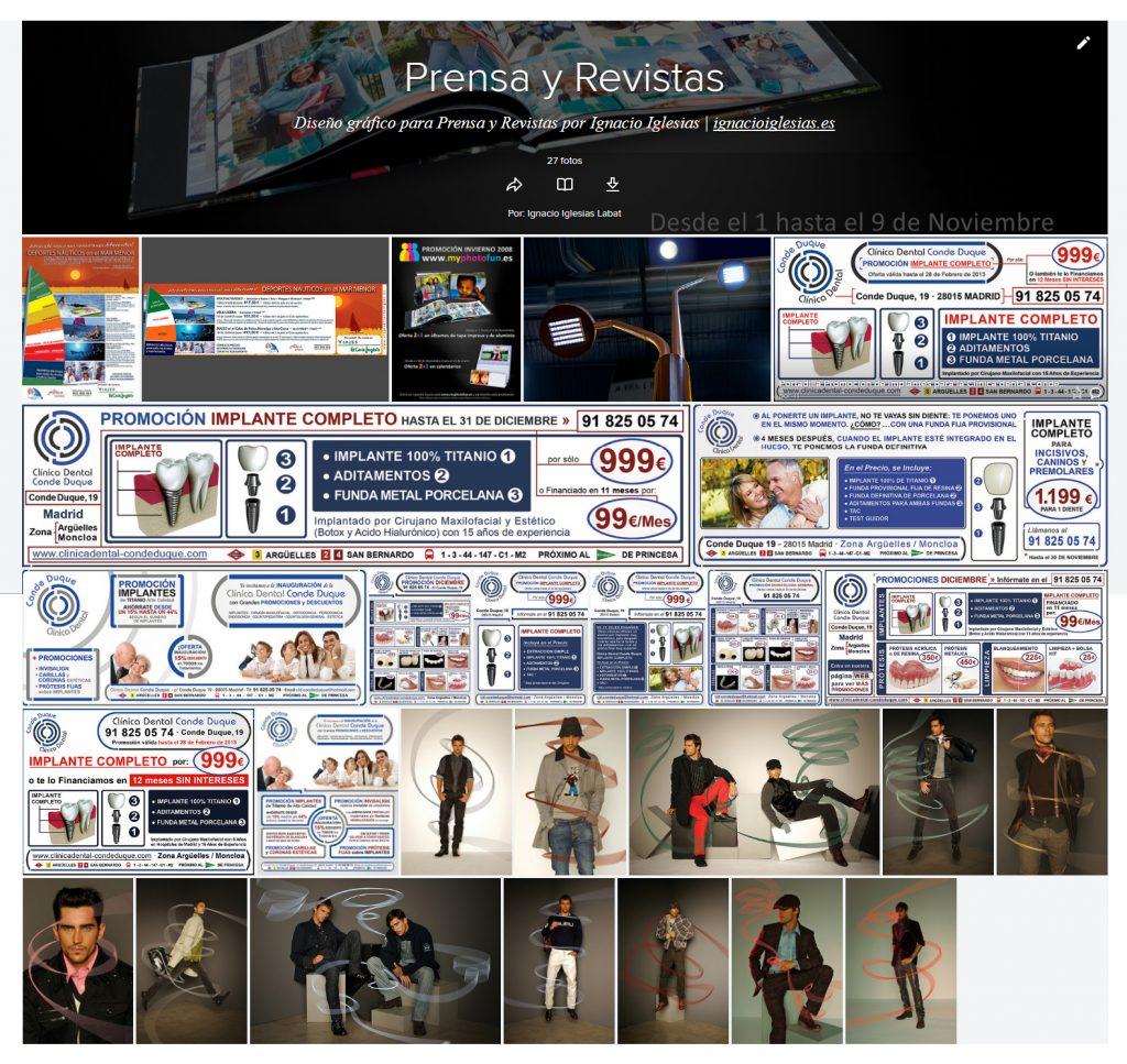 Portada de Álbum flickr Prensa y revistas - portfolio