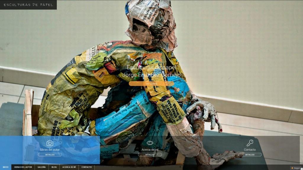 Web Esculturas de papel: los Monos de Jorge Faúndez