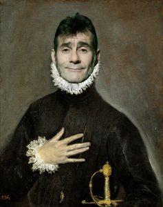 Ignacio Iglesias con la mano en el pecho