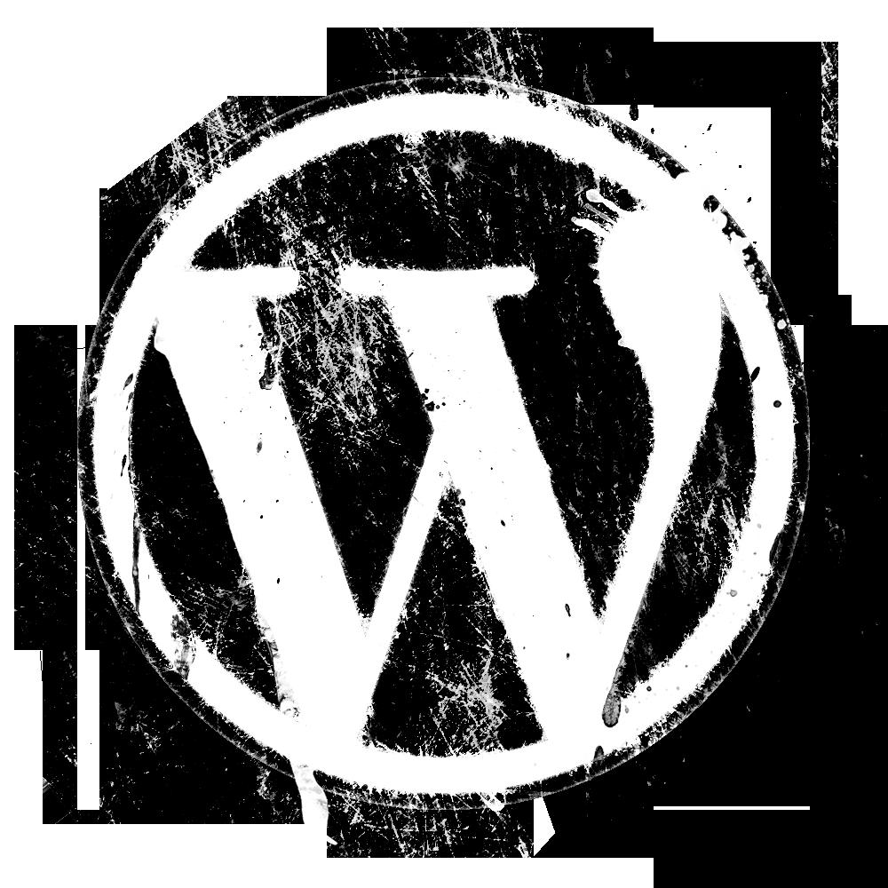splatter-grunge-wordpress-logo